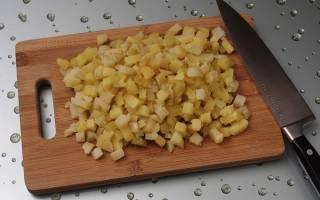 Салат деревенский с грибами и картошкой